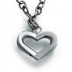 Stříbrný náramek se srdcem