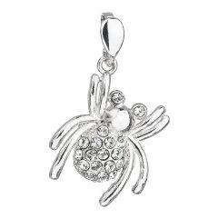 Stříbrný přívěsek pavouk s krystaly Swarovski