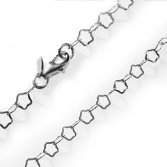 Stříbrný náhrdelník z hvězdiček