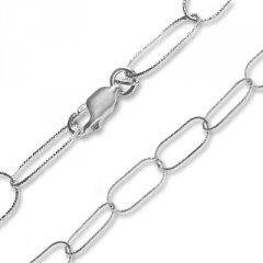Stříbrný náhrdelník z velkých oválků