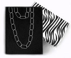 Souprava stříbrného náhrdelníku a náramku z velkých oček