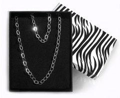 Souprava stříbrného náhrdelníku a náramku z tepaných oček
