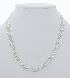 Stříbrný osmiřadý náhrdelník