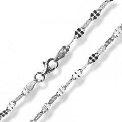 Stříbrný náhrdelník - čtyřlístky