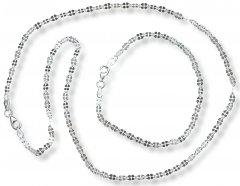 Souprava náhrdelníku a náramku - čtyřlístky