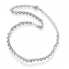 Stříbrný náhrdelník ze srdíček