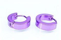 Ocelové náušnice kloubové fialové