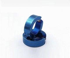 Ocelové náušnice kloubové modré