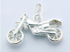 Stříbrný přívěsek - motorka