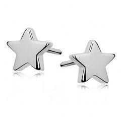 Stříbrné náušnice hvězdičky