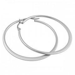 Ocelové náušnice - kruhy 4 cm