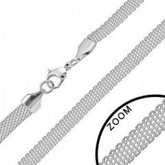 Ocelový náhrdelník splétaný 6 mm