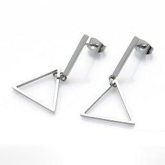 Ocelové náušnice se zavěšenými trojúhelníky