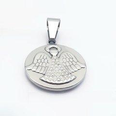 Ocelový přívěsek - medailon s andělem