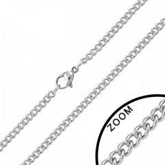 Ocelový řetízek curb 3 mm
