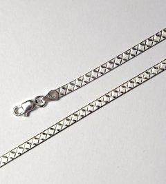 Stříbrný náhrdelník magic se vzorem, 42 cm
