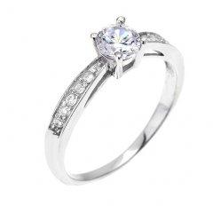 Elegantní stříbrný prsten se zirkony
