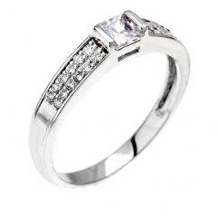 Stříbrný prsten se čtvercovým zirkonem