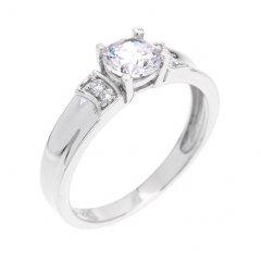 Moderní stříbrný prsten se zirkonem