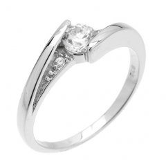 Decentní stříbrný prsten se zirkonem