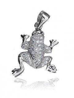 Stříbrný přívěsek - žabka