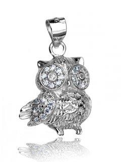 Stříbrný přívěsek - sova