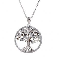 Stříbrný přívěsek strom života se zirkony