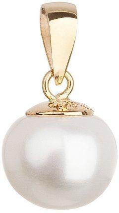 Zlatý přívěsek s bílou perlou 8 mm