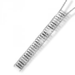 Stříbrný přívěsek na řetízku - příčné dílky
