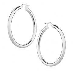 Stříbrné náušnice kruhy 37 x 3 mm