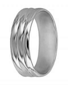 Snubní prsten A 2 bílé zlato