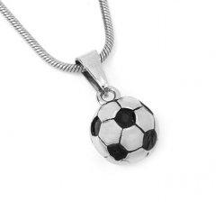 Ocelový přívěsek - fotbalový míč