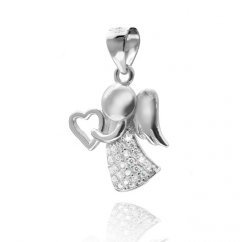 Stříbrný přívěsek - anděl se srdíčkem
