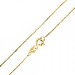 Zlatý řetízek hranatý 45 cm