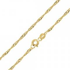 Zlatý řetízek SINGAPUR 40 cm