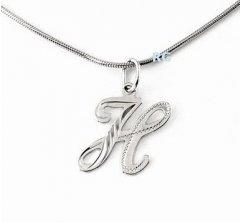 Stříbrný přívěsek - písmeno H