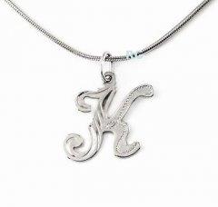 Stříbrný přívěsek - písmeno K