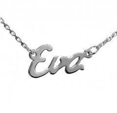 Stříbrný řetízek se jménem Eva