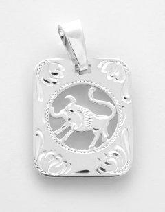 Stříbrný přívěsek Býk - destička
