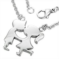 Ocelový náhrdelník s motivem milenců
