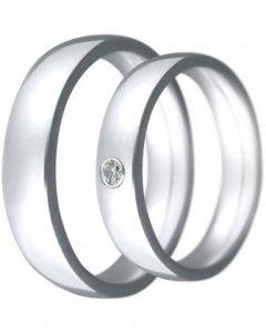 Snubní prsten Claudia 2 bílé zlato