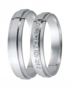 Snubní prsten D 19 bílé zlato
