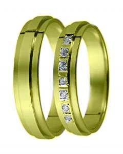 Snubní prsten D 19 žluté zlato
