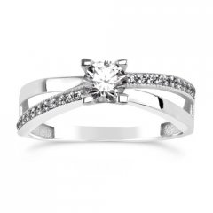 Stříbrný prsten ERIN se Swarovski Zirconia