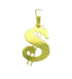 Zlatý přívěsek Dolar