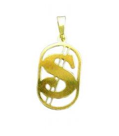 Zlatý přívěsek Dolar v rámečku