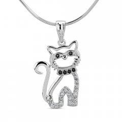 Stříbrný přívěsek kočka