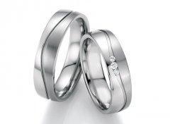 Ocelové snubní prsteny s diamanty DSE2015P