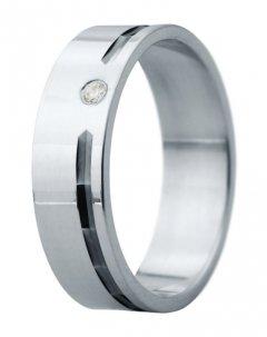 Snubní prsten Eliška 1 bílé zlato