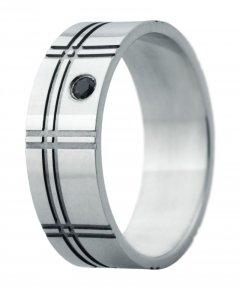 Snubní prsten Eliška 2 bílé zlato